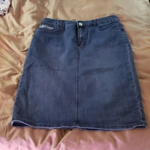Womans size 10 mid jean skirt by Christopher&Ban